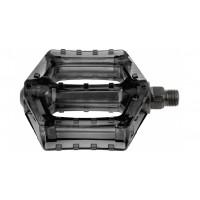 Pedales BMX M-WAVE Policarbonato Translúcido - Negro