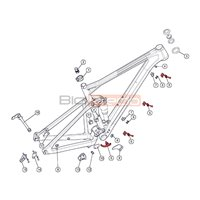 Guía Cables Cuadro BMC Fourstroke FS / 2 Cables / 2013-2017