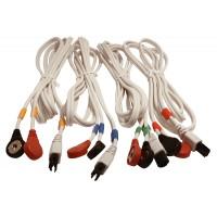 Juego de Cables COMPEX / 6 Pins-Snap - Blanco