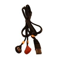 Cable COMPEX / 8 Pins-Snap - Amarillo