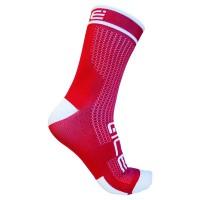 Calcetines ALE POWER caña alta - Rojo y blanco