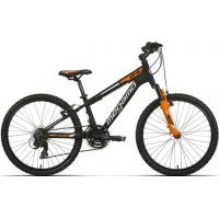 """Bicicleta de montaña Megamo - Open Junior Boy 24"""" - Negra"""