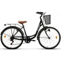 "Bicicleta de paseo/city Megamo - Ronda 2019 - 26"" Pulgadas - Negra"