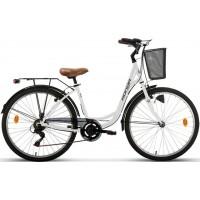 """Bicicleta de paseo/city Megamo - Ronda 2019 - 26"""" Pulgadas - Blanca"""
