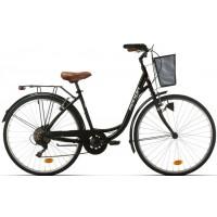 "Bicicleta de paseo/city Megamo - Ronda 2019 - 28"" Pulgadas - Negra"