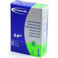 "Cámara de aire Schwalbe 24"" Válvula schrader (gruesa) 24x1.00"