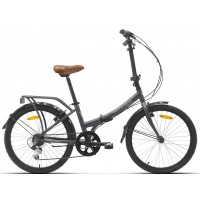 """Bicicleta plegable Paseo/Urbana Megamo - Zambra 2019 - 20"""" Pulgadas - Gris"""