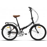 """Bicicleta plegable Paseo/Urbana Megamo - Zambra Maxi 2019 - 24"""" Pulgadas - Negra"""