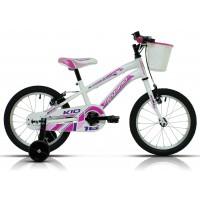 """Bicicleta de montaña Megamo - Kid Girl 16""""- Blanca"""
