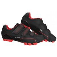 Zapatillas de montaña GES Urko Negro-Rojo