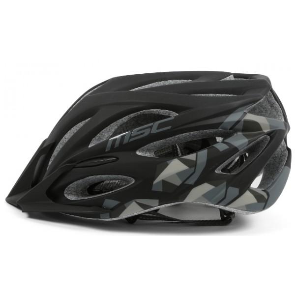 Talla S//M Color Negro//Gris MSC Bikes MSC Inmold Casco