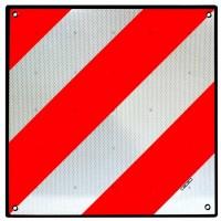 Placa señalización V20 - Homologada - ABS + Protección trasera