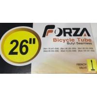 """Cámara de aire Forza 26"""" Válvula presta (fina) 26x1.75-2.125"""