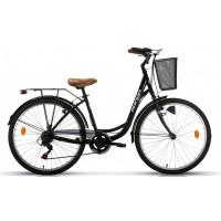 "Bicicleta de paseo Megamo - Ronda - 26"" Pulgadas - Negra"