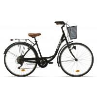 "Bicicleta de paseo Megamo - Ronda 2020 - 28"" Pulgadas - Negro"