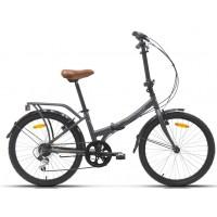 Bicicleta plegable paseo Megamo - 24 Maxi 2020 - Gris