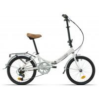 Bicicleta plegable paseo Megamo - 20 Zambra - Blanco