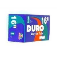 """Cámara de aire de válvula moto DURO para bicicleta de 16""""x1.75"""