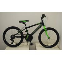 """Bicicleta de montaña 20"""" AGECE Arons - Negra/Verde"""