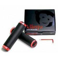 Puños de Silicona RedMonkey Kampaz Lock-ON / 6 mm. - Negro/Rojo
